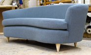 Osborne Kidney Sofa  in Boucle Fabric